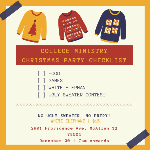 College Ministry Christmas Party